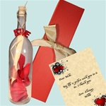 Roses Message In A Bottle Gift